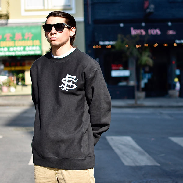 SF Interlock Super-Heavyweight Crewneck Sweatshirt -- black