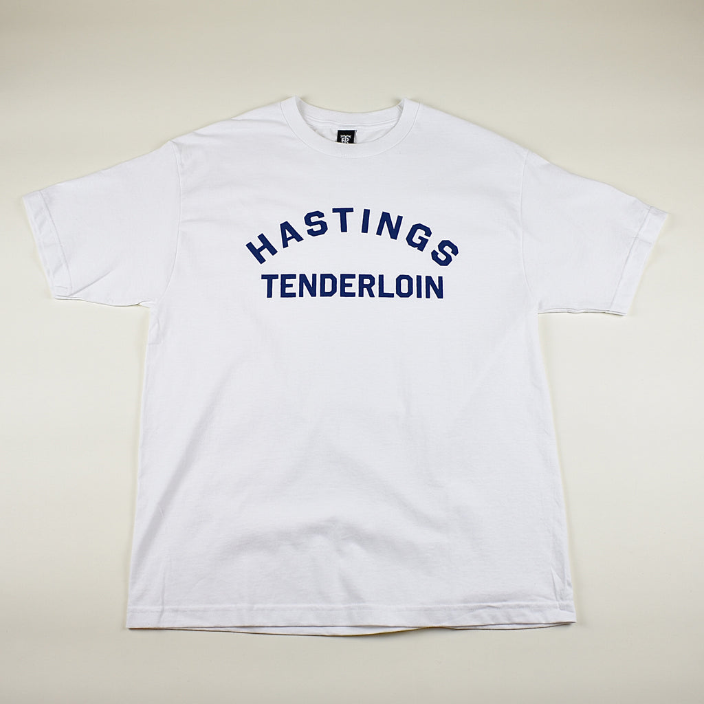 Tilted Brim for UC Hastings T-Shirt -- white