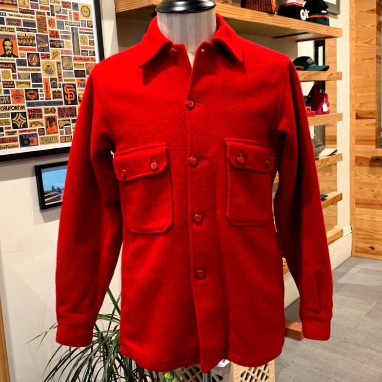 Vintage: BSA Red Wool Jacket / Overshirt