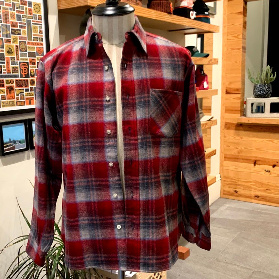 Vintage: Picnic Red Wool Pendleton Shirt
