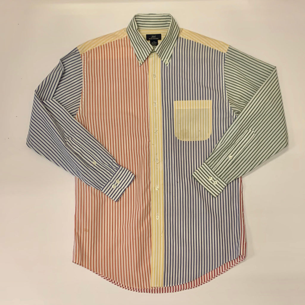 Vintage: 00's Brooks Brothers Stripe Color Block Oxford