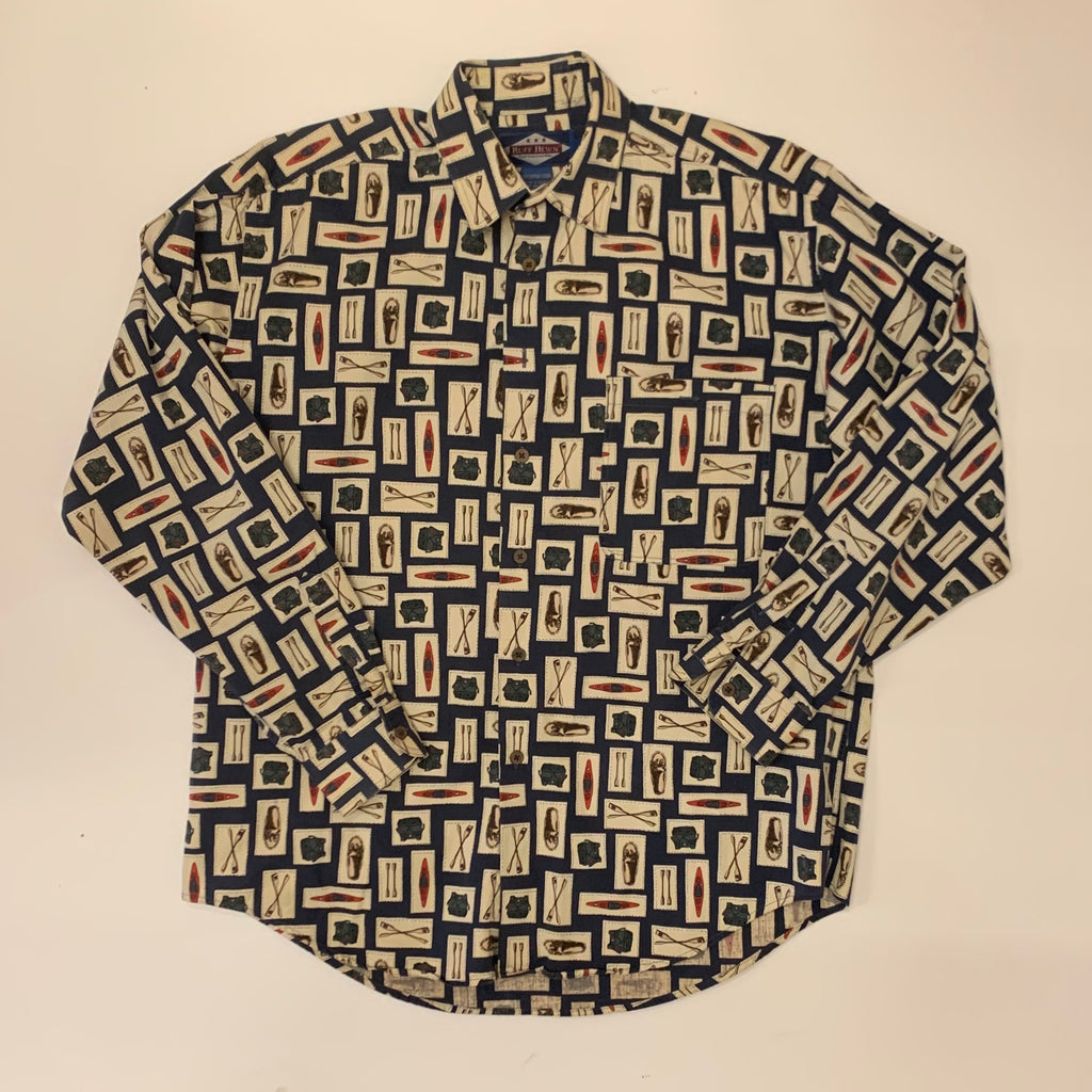 Vintage: 90's All-Over Print Button Down Shirt