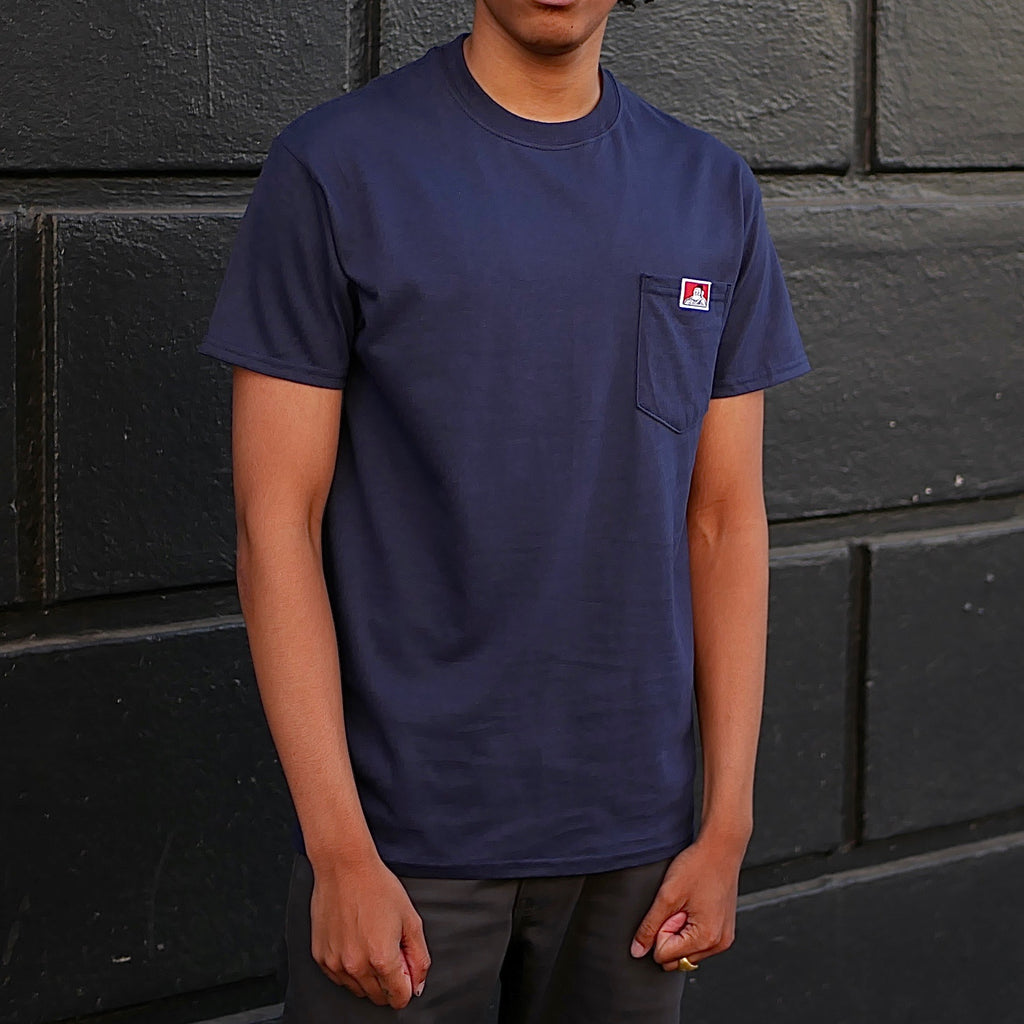 Gorilla Logo Pocket T-Shirt -- navy