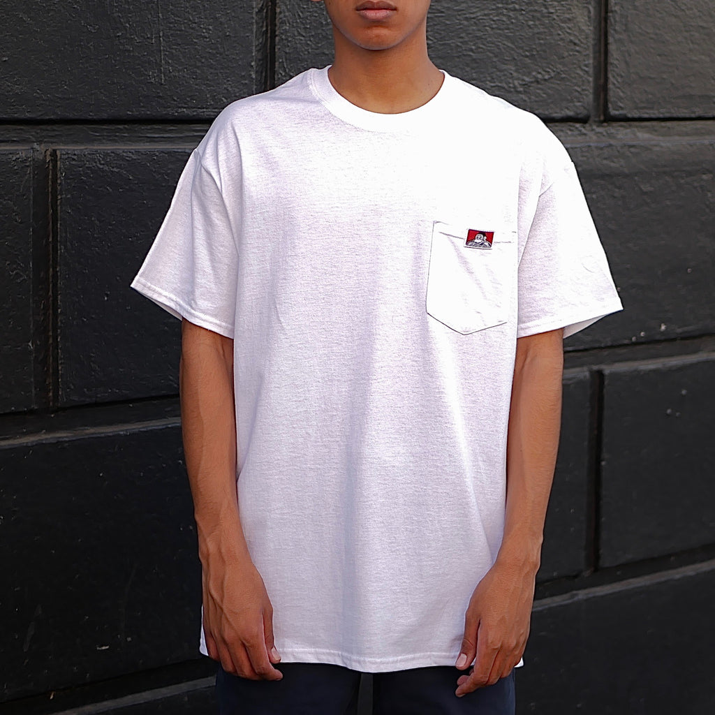 Gorilla Logo Pocket T-Shirt -- white