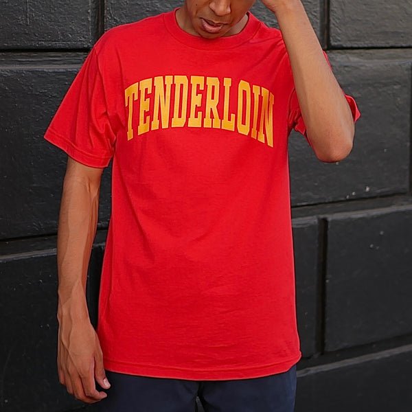 Tenderloin New Collegiate T-Shirt -- red
