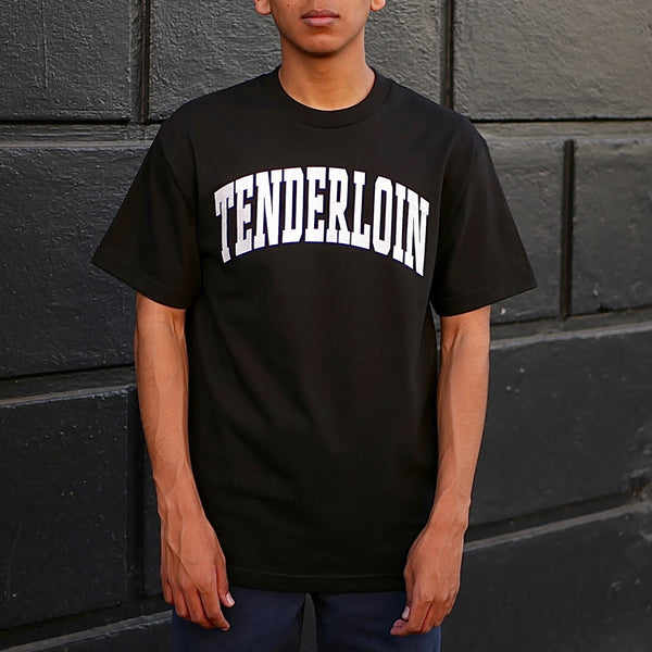 Tenderloin New Collegiate T-Shirt -- black