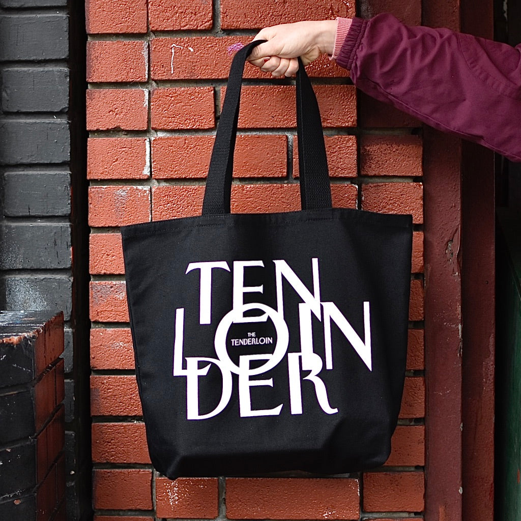 The Tenderloiner Tote Bag -- BLACK