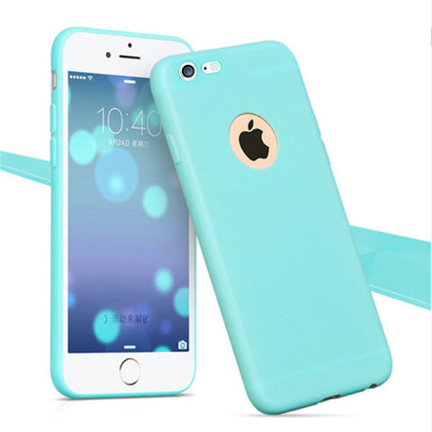 Enthopia Ultra Thin 0.3mm Light Blue Soft Silicone Slim Back Case Cover for Apple Iphone 7