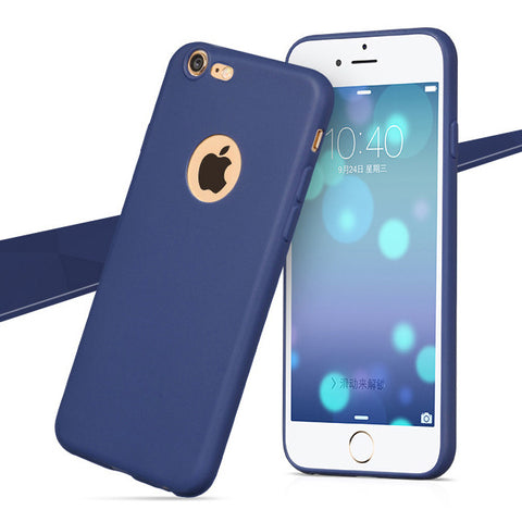 Enthopia Ultra Thin 0.3mm Blue Soft Silicone Slim Back Case Cover for Apple Iphone 7