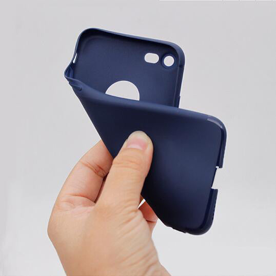 Ultra Thin Black Silicone Cover for Apple Iphone 7