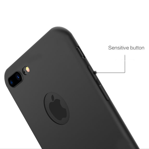 Enthopia Ultra Thin 0.3mm Black Soft Silicone Slim Back Case Cover for Apple Iphone 7 Plus