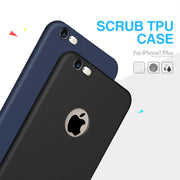 Ultra Thin Black Silicone Cover for Apple Iphone 7 Plus