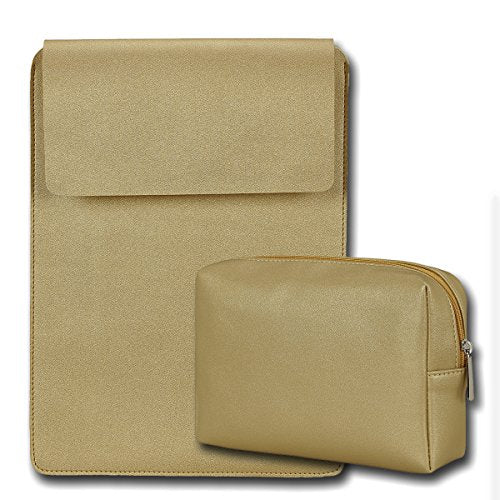 "13"" Vegan Leather Laptop Sleeve + Pouch"
