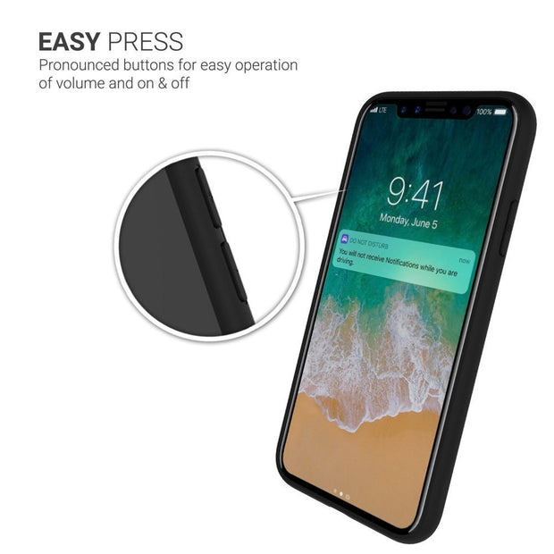 iPhone X Transparent Hard Back with Soft Silicone Bumper for Apple Iphone X
