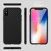 Enthopia Carbon Fiber Super Slim Anti-Slip Grip Full Body Protector Carbon TPU Case For iPhone X (iPhone X, Carbon TPU)