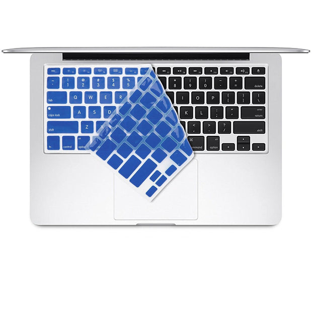 "Macbook Air 13"" (A1369/A1466) - with Keyboard Guard (Blue with Logo Hole)"