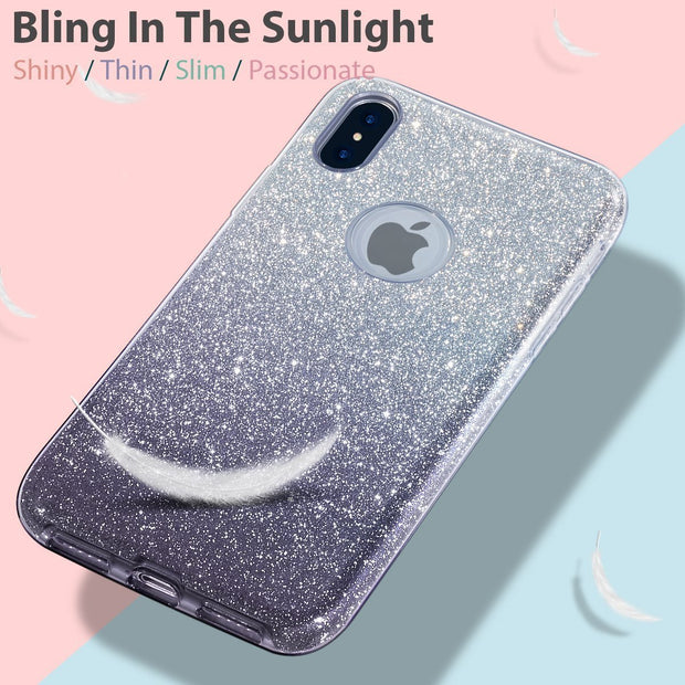 Glitter Silicone Slim Back Case Cover for Samsung J7 2017