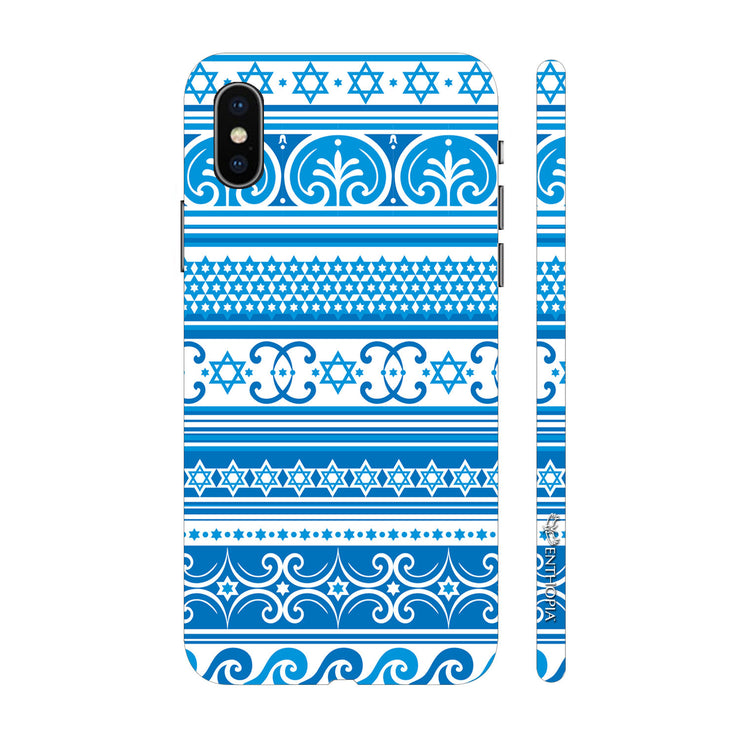 Hardshell Phone Case - Blue Aztec