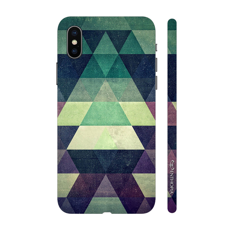 Hardshell Phone Case - Green Pyramids