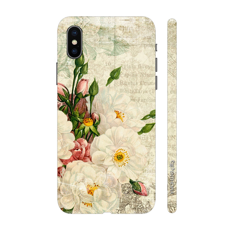 Hardshell Phone Case - White Flower Touch