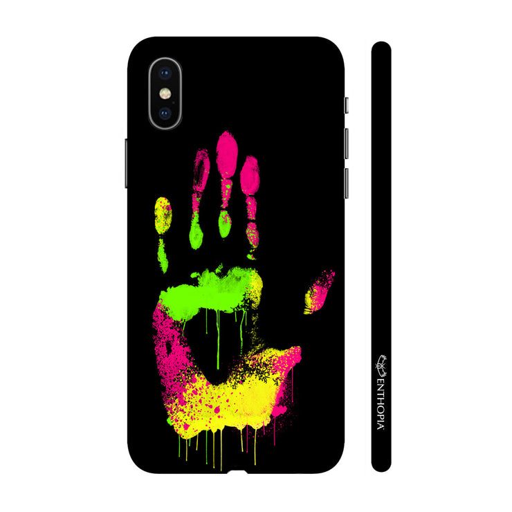 Hardshell Phone Case - Coloured Hand Print