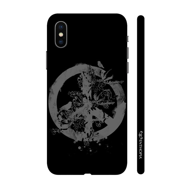 Hardshell Phone Case - Peace - Black