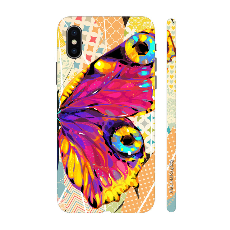 Hardshell Phone Case - Butterfly on a Feathery Wall