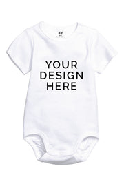 Custom Printed Short Sleeve Onesie Romper Suit