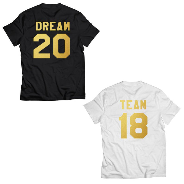 Couple Half Sleeve Round Neck T-Shirt - Dream Team