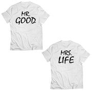 Couple Half Sleeve Round Neck T-Shirt - Good Life