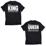Couple Half Sleeve Round Neck T-Shirt - King Queen
