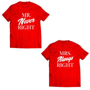 Couple Half Sleeve Round Neck T-Shirt - Right