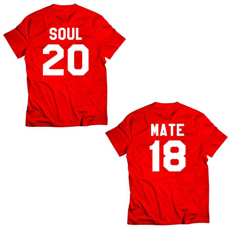 Couple Half Sleeve Round Neck T-Shirt - Soul Mate