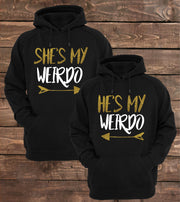 Couple Hoodie - My Weirdo (Black)