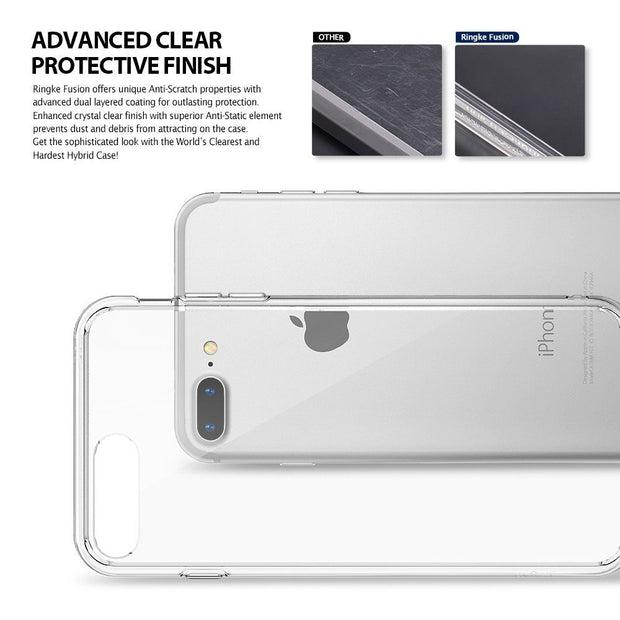 Enthopia Ultra Thin 0.3mm Clear Transparent Soft TPU Slim Back Case Cover for Apple iPhone 7 Plus
