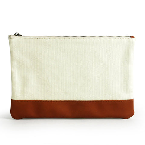 Canvas Leather Laptop Sleeve