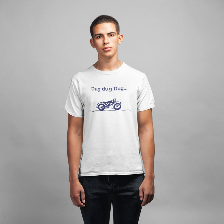 Royal Enfield Design 8 Mens Half Sleeves Round Neck