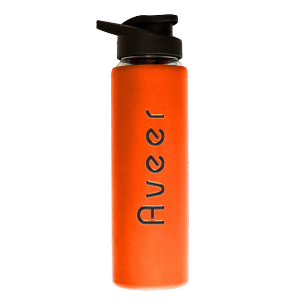 Personalised Glass Bottle with Silicone Sleeve