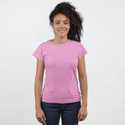 Womens Half Sleeves Round Neck-Plain