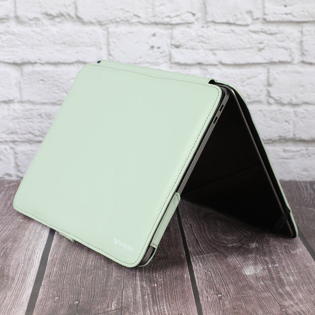 MacBook Air 13 inch Case 2020 2019 2018 Release A2337 M1 A2179 A1932 Retina Display - Vegan Leather Folio Case
