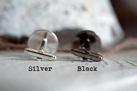 Personalized superhero cufflinks, cool gifts for men, wedding silver plated or black cuff link