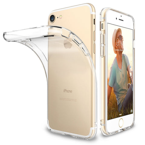 Enthopia Ultra Thin 0.3mm Clear Transparent Soft TPU Slim Back Case Cover for Apple Iphone 7