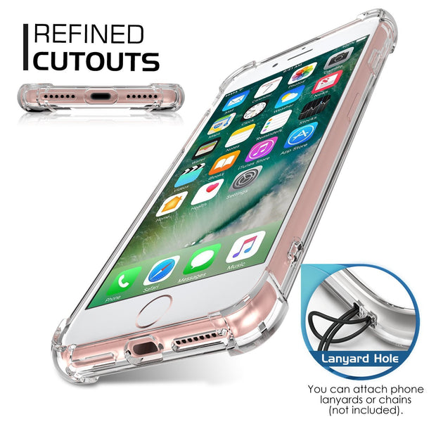 Transparent Corner Protection Cover for Apple iPhone 7