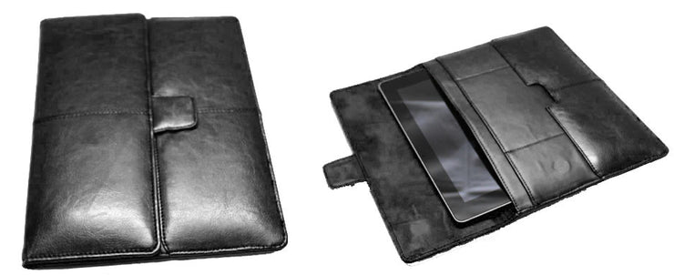 Universal Faux Leather Tablet Sleeve - Black