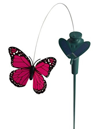 SOLFLY - Solar Yard Stake Fluttering Butterfly, Solar or Battery - Garden Toys