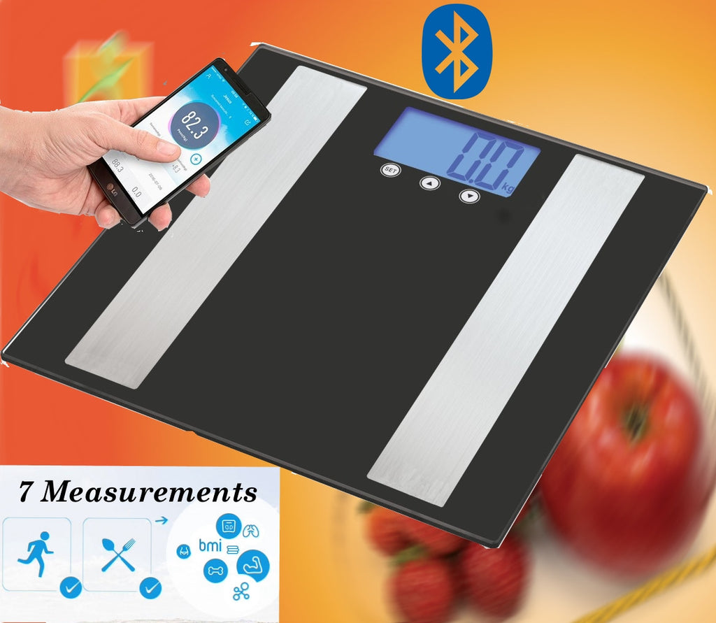 BTSMFS - Bluetooth Smart Body Fat Scale - Mobile App Measures Weight/BMI/BodyFat/Water/Muscle/Bone