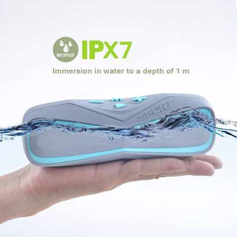 RSW619 - Waterproof IPX7 Sport Portable Bluetooth Outdoor Speaker with Mic
