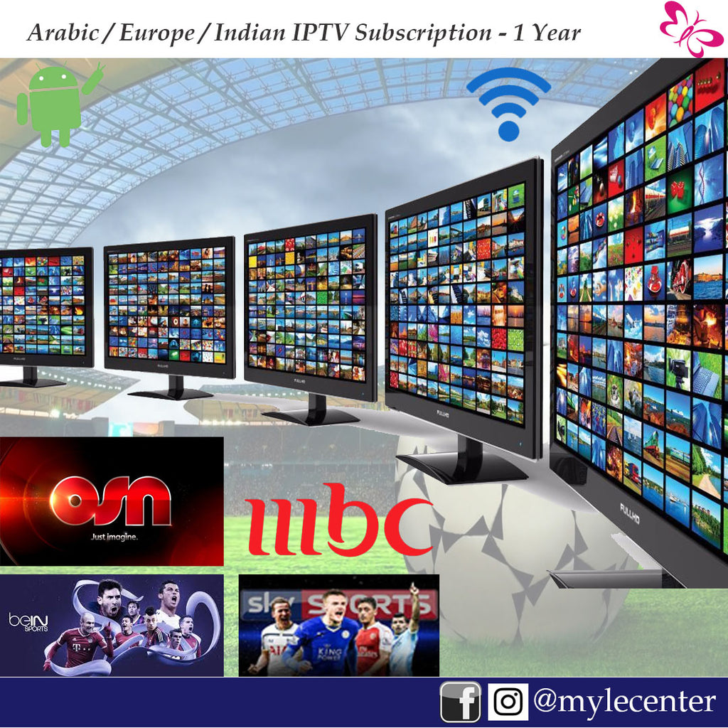 Twin IPTV Subscription 1 Year - Bein, OSN, SKY