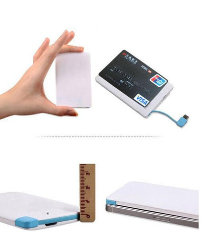 ILBHPB - I Love Bahrain Wallet Pocket Card Power Power Bank, 2500mAh Micro & iPhone Adapter