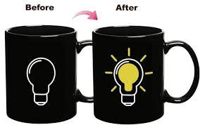 CLCMUG - Thermal Sensitive Color Changing Mug (Bulb)-  Coffee Tea Milk Cup